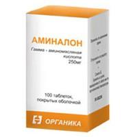 Аминалон, табл. п/о 250 мг №100